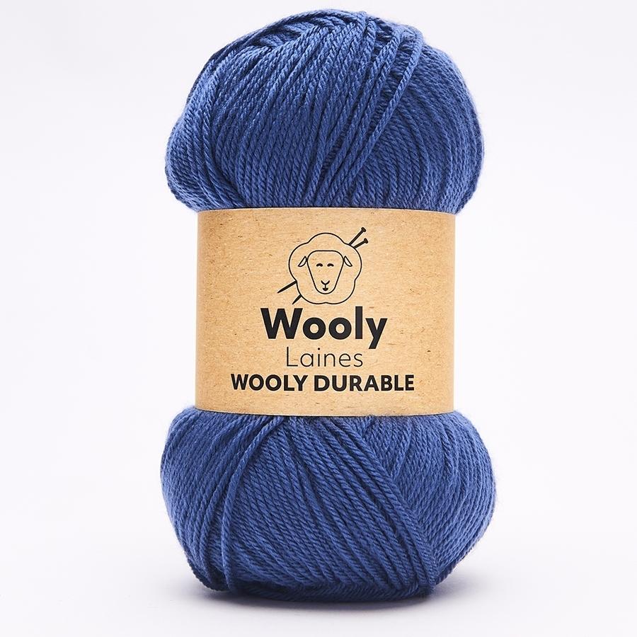 PELOTE DE LAINE WOOLY DURABLE Pelote de 100gr  Wooly Durableest la seulelaine acrylique 100% anti-bouloche(anti-pilling) du