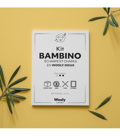 Écharpe & Chapka Bambino - Patron de Tricot en Wooly Doux Écharpe & Chapka Bambino - Patron de tricot enWooly Doux  Niveau dé