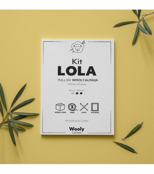 Pull Lola - Patron de tricot en Wooly Alpaga Pull Lola - Patron de tricot en Wooly Alpaga Niveau débutant  Un beau projet pou