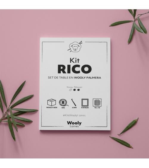 Set de table Rico - Patron de crochet en Wooly Palmera Set de Table Rico- Patron de tricot enWooly Palmera  Niveau débutant