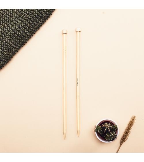 Aiguilles à tricoter Prym en Bambou 33cm Aiguilles en Bambou - Wooly Laines  Besoin d'une paire d'aiguilles pour tricoter vos