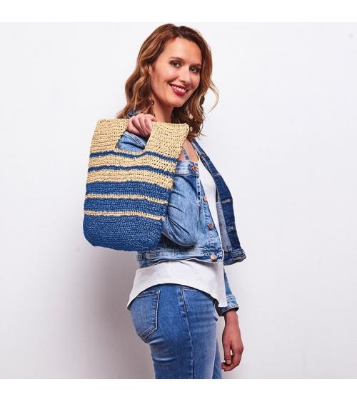 Sac Sunny - Kit de crochet en Palmera Pelote de 50 gr. niveau débutant.  Le kit Sac Sunny sera votre accessoire indispensable