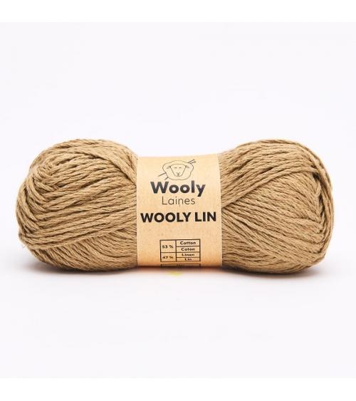 PELOTE DE LAINE WOOLY LIN Pelote de 50gr  Besoin de se protéger de la chaleur? Wooly Lin est un fil à tricoter fin et lourd
