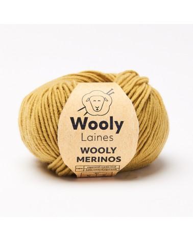 Wooly Mérinos Pelote de Laine 100% Mérinos Superwash Pelote de 50 gr.  WOOLY MERINOSest entièrement constituée de fibre de mé
