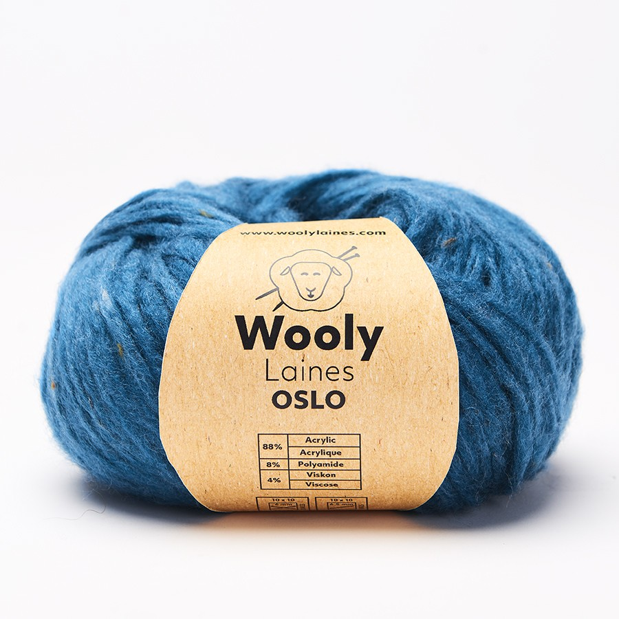 PELOTE DE LAINE OSLO Pelote de 50gr. OSLO est une tricotine ronde grattée pour une douceur et une légèreté optimale. Le fil gon
