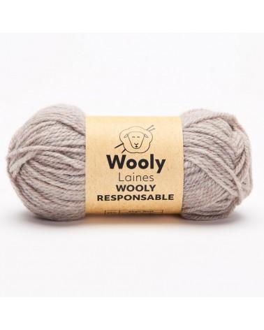 PELOTE DE LAINE WOOLY RESPONSABLE Pelote de 50 gr. Responsable, durable et créative, Wooly Responsable réuni en une pelote tous