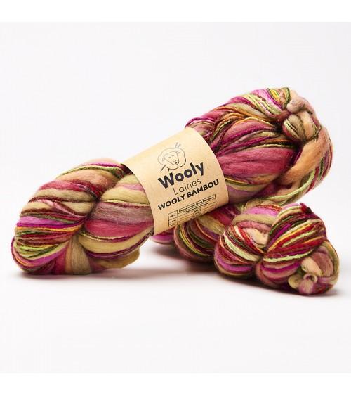 PELOTE DE LAINE WOOLY BAMBOU Pelotes de 100gr.  Notre laine Wooly Bamboucontient essentiellement des produits naturels tels q