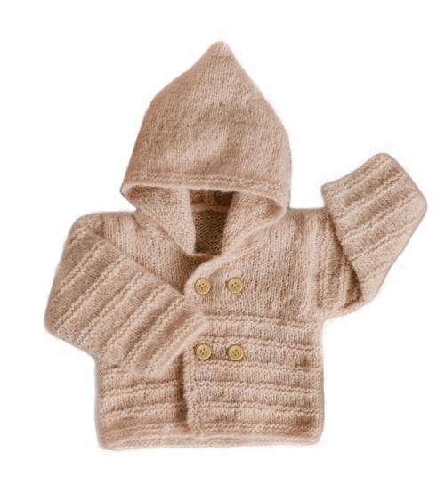 Paletot Bébé Dany - Kit de Tricot en laine Fairbanks Pelotes de 50gr. Niveau débutant Avec notre paletot DANY, bébé sera le pl