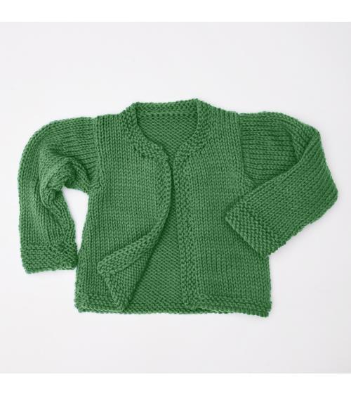 Gilet Lara - Kit de Tricot en 100% laine Mérinos SuperWash Pelotes de 100gr. Niveau débutant Un gilet qui saura émerveillera v