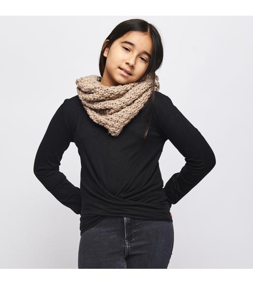 Snood Camille Enfant - Kit de Tricot en laine RIGA Pelotes de 100 gr. Niveau débutant Jamais se protéger du froid n'aura été s