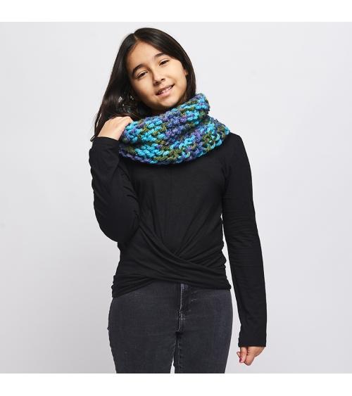 Snood Candice Enfant - Kit de Tricot en laine Tallinn Pelotes de 100gr. Niveau débutant. Jamais se protéger du froid n'aura ét