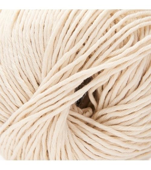 PELOTE DE LAINE COTON ORGANIQUE Pelote de 50 gr. Coton organique est une pelote durable et écologique. Elle est confortable et